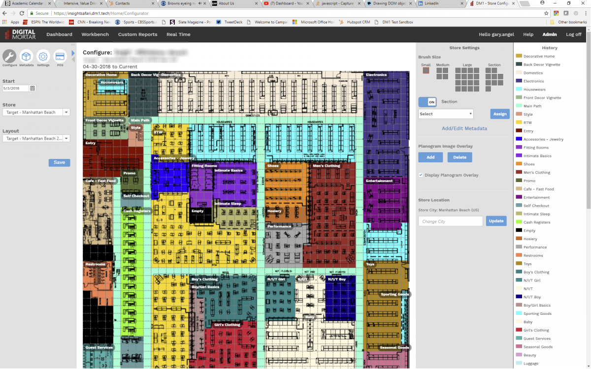 Digital Mortars DM1 Store Analytics - Digital Planogram Builder