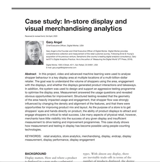 AppliedMarketing-Analytics-Reprint Case Study in Merchandising Analytics